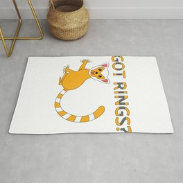 Unique & Funny Ringtail Cat Tshirt Design Got Rings? Rug