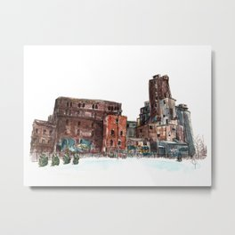 Canadian Malting Factory Metal Print