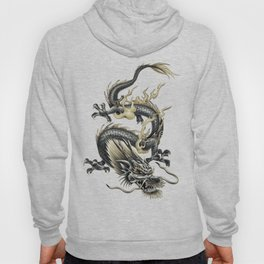 Lucky Chinese Dragon In Gray and Gold Hoody