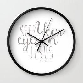 Hebrews 12:2 Wall Clock