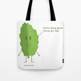 Encourage Mint Tote Bag