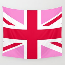Pink Union Jack Wall Tapestry