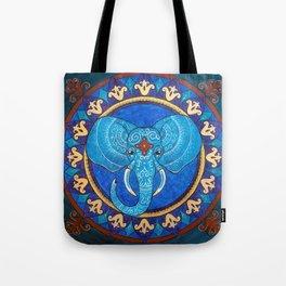 Wisdom - Elephant mandala Tote Bag