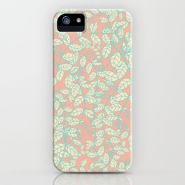 Green Nature Branches Leaves iPhone Case