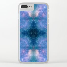 Abstract Geometric Celestial Galaxy Clear iPhone Case