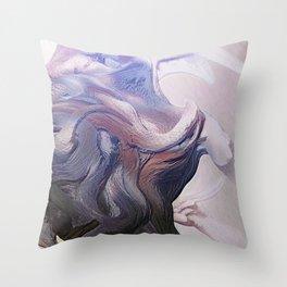 Cave Hunt Throw Pillow