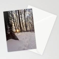 up the snowy path Stationery Cards