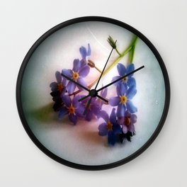 Myosotis 'Forget Me, Not' Wall Clock