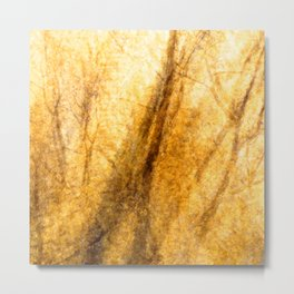 Abstract Gold Forest 1444 Metal Print