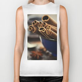 Close up of coffee and spices Biker Tank
