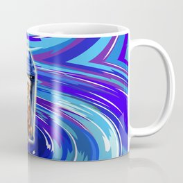 11th Doctor with Blue Phone box in time vortex Coffee Mug