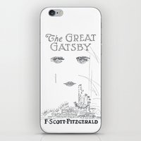 the great gatsby iPhone & iPod Skins featuring The Great Gatsby by S. L. Fina