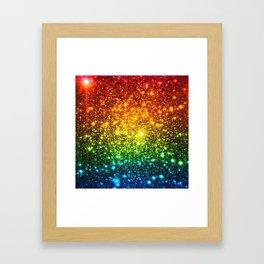 RainBoW Sparkle Stars Framed Art Print