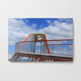 Red Steel Bridge Metal Print