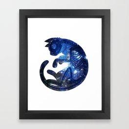 Star Cat Framed Art Print