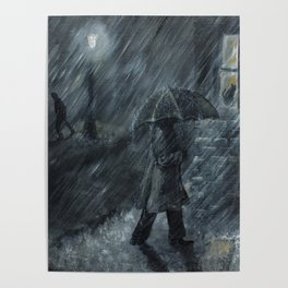 Trudging in the Rain Poster