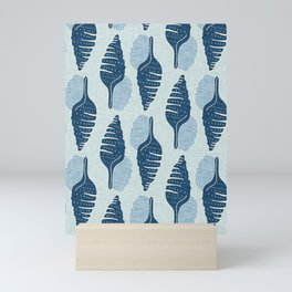 sea shell light blue Mini Art Print