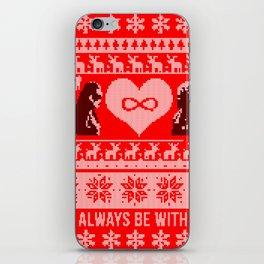 Clexa Christmas iPhone Skin