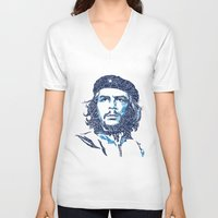 che V-neck T-shirts featuring che by raj verma