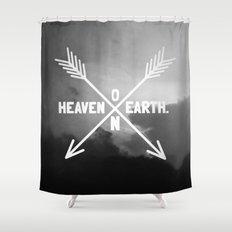 Heaven on Earth (B&W) Shower Curtain