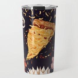 Pizza Mandala Travel Mug