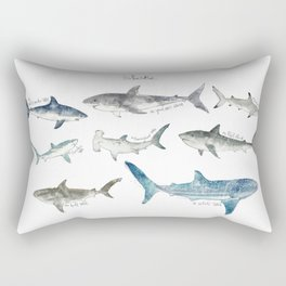 Sharks Rectangular Pillow