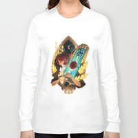 transistor Long Sleeve T-shirts featuring Like It's Written in the Stars - Transistor by Stephanie Kao