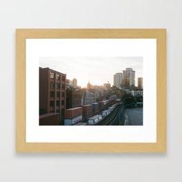 Sunset in Vancouver Framed Art Print