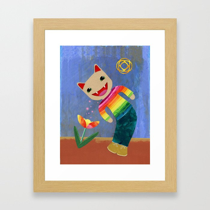happiness spores Framed Art Print