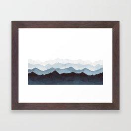 Indigo Mountains Landscape Framed Art Print