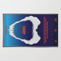 jaws Area & Throw Rugs featuring Jaws by GlennTKD