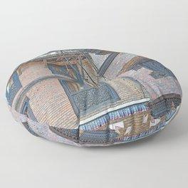 BHAKTAPUR NEPAL BRICKS WINDOWS WIRES Floor Pillow