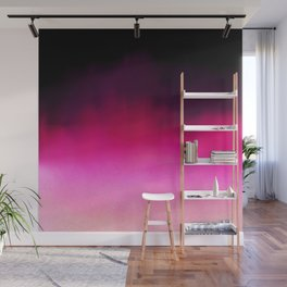 Purple and Black Abstract Wall Mural