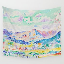 "Henri-Edmond Cross ""Les Monts des Maures"" Wall Tapestry"
