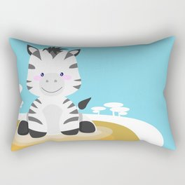 Zebra in the savannah Rectangular Pillow