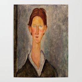 "Amedeo Modigliani ""Portrait Of A Student (L'Etudiant)"" Poster"