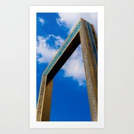 The Dubai Frame Art Print