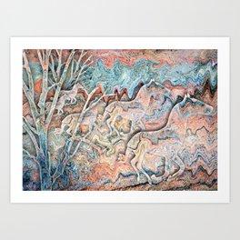 Copper Canyon Horses Art Print