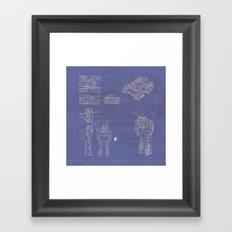 Transformer Blueprints Framed Art Print