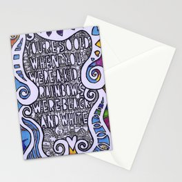 You're so old, when you were a kid, rainbows were black and white. Stationery Cards
