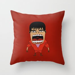 Screaming Kaneda Throw Pillow