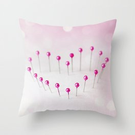Pin Heart Throw Pillow