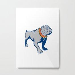 Angry Bulldog Standing Cartoon Metal Print