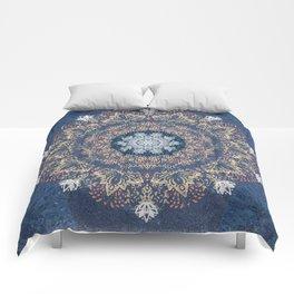 Blue's Golden Mandala Comforters