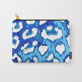 Blue and White Leopard Spots Carry-All Pouch
