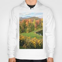 vermont Hoodies featuring Vermont Foliage Watercolor by Vermont Greetings