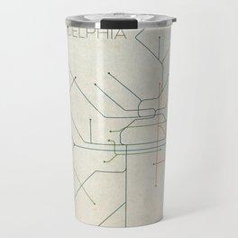 Minimal Philadephia Subway Map Travel Mug