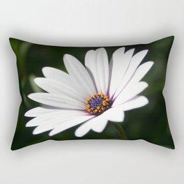 Daisy flower blooming close-up Rectangular Pillow