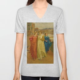 Henry Holiday - Dante And Beatrice Unisex V-Neck