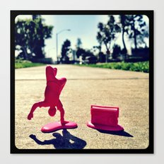 Breakdancing on a sunny day. Canvas Print